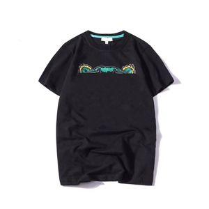 19SS T-shirt d'été T-shirt Lettres Lettres Lettres Broderie Hommes Tee Shirts Fashion manches courtes Femmes Tshirt Streetwear S-2XL