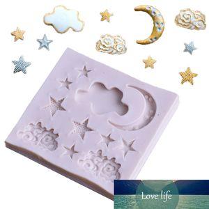 Nova Chegada de Alta Qualidade Gummy Mold de Chocolate Cozimento DIY Fondant Molde do Bolo 1 Pc Molde Venda Quente Star Moon Nuvem Shape Silicone