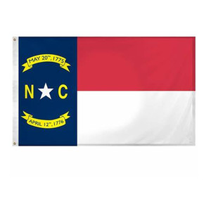 US America North Carolina State Flags 3'X5'ft 100D Polyester Outdoor Hot Sales High Quality With Two Brass Grommets