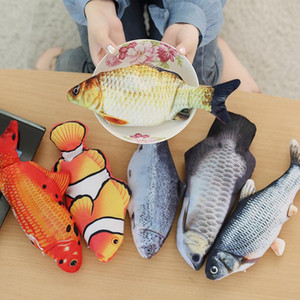 Flipping Fish Cat Toy Realistic Plush Electric Flipping Doll Funny Interactive Pets Chew Bite Floppy Toy Perfect for Kitty Exercise GWE4141
