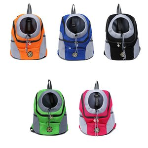 New Out Double Shoulder Portable Travel Outdoor Carrier Pet Dog Front Bag Mesh Backpack Head
