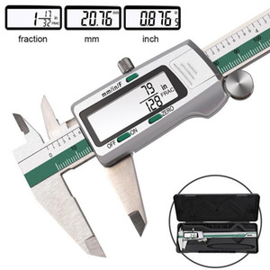 Stainless Steel Digital Display Caliper 150mm Fraction MM Inch High Precision Stainless Steel LCD Vernier Caliper measuring Tool T200602