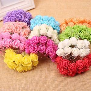 144pcs 2 cm PE Foam Rose Flores artificiales Accesorios de fiesta de boda DIY Craft Decoración para el hogar Hecho a mano Flor de la casa Decoración de la boda1