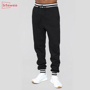SitesiWeie Moda Koşu Pantolon Erkekler Sweatpants Spor Rahat Spor Pantolon Antumn Kış Eğitim Rasing Gevşek Uzun Pantolon G540 C1201
