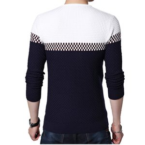 BROWON Men Brand Sweater Sweater Business Leisure Sweater Pullover V-neck Mens Fit Slim Sweaters Knitted for Man 201123