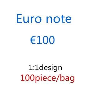 Wholesale Детские банкноты праздник Prop для взрослых 100euro украшения игрушечные вечеринки деньги атмосфера представляют собой предпринимательную решетку сюрприз 48 IIOLL