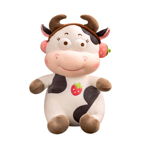 Super soft filled crystal cotton kawaii cow doll soft down cotton cute and cute expression Christmas gift Stuffed toys room deco Z1127