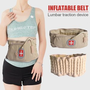 Back Inflatable Waist Belt Massager Pain Relief Lumbar Traction Device with Pump for Easy Safety Working-out Ornaments