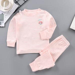 Children's Suit Autumn Clothing New Style Boy's Girls Long Sleeve Thermal Underwear Piece Baby Homewear Set Hi9