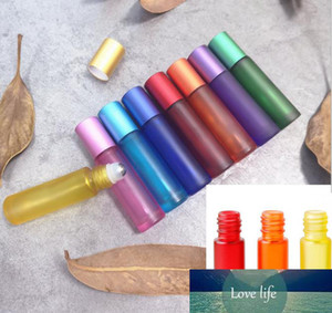 10ml Gradient Color Essential Oil Perfume Bottle Roller Ball Thick Glass Roll On Durable For Travel Cosmetic Container