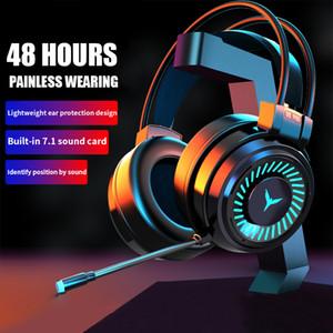 Игра Наушники с микрофоном PC Professional Gaming Headset USB Wired Наушники Объектная Звуковая стерео для игры PUBG Xbox PS4