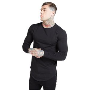 SS T Рубашки мужчины Siksilk с длинным рукавом футболка мужские осенние кофты хип-хоп уличная одежда футболка шелковая толстовка