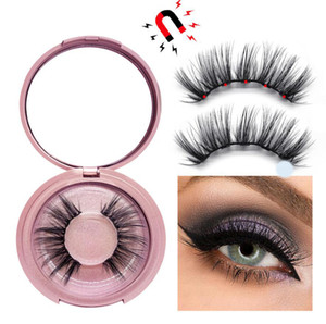 3D Mink Magnetic Eyelash False Eyelash Extension Waterproof Mink Lashes Makeup Eyelashes Magnetic Liquid Eyeliner Tweezers beauty tool