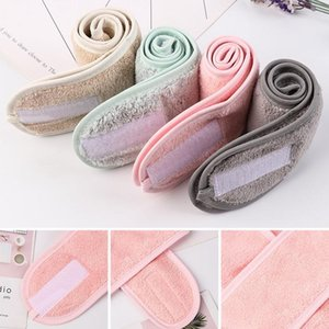 Adjustable Wide Hairband Makeup Head Band Toweling Hair Wrap Shower Cap Stretch Salon Spa Facial Headband Make Up Acc qylTxM