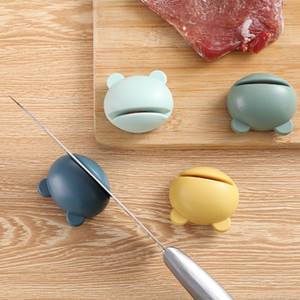 Mini ABS Matte Knife Sharpener Cute creative Portable Cartoon Type Whetstone Sharpener Sharpening Knives Stone kitchen tools