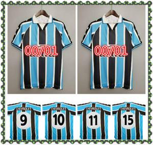 2000 Gremio Retro Soccer Jersey 2001 Ronaldinho Zinho Nene Warley Gremio Alegre Home Camicia da calcio vintage