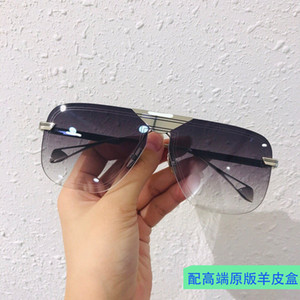 Ma New Fashion Business Casual Men's Square Personality Frameless Driving Female Sunglasses