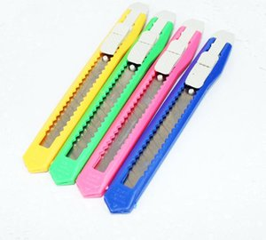 2020 Solid Color Mini Portable Utility Knife Paper Cutter Cutting Paper Razor Blade School Home Office Stationery Supplies Art Craft