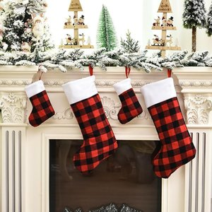 Merry Christmas Stocking Sack Xmas Gift Candy Bag Decorations for Home Sock Christmas Tree Decor