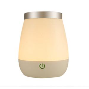 Rechargeable White Led Vase Table Lamp Desktop Flowerpot Night Light Bedroom Bedside Lamp Home Decoration Indoor Lighting