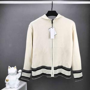 Mulheres Designer de moletom Fashion Fashion Francês Estilo Zíper Cardigan Camisola 21 Novo Moletom Quente Para As Mulheres Homens SML SML