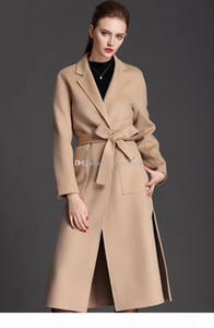2019 Black Friday sale x-long black camel winter jackets womens wool coat ladies cashmere wool coats outerwear coats