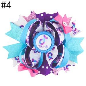 Expédition gratuite 12pcs 5.5'tiktok Inspiré des arcs d'arcs Boutiques Accessoires de cheveux avec Clip Mode Tik Tok Tok Coupes de cheveux Coiffeurs Capuchon de bouteille B.