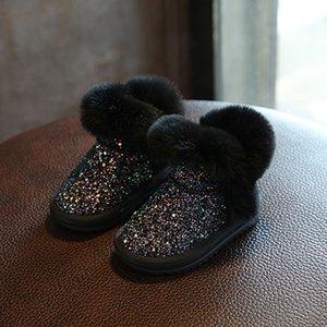 Tjvr loveewalk pour bottes d'hiver automne hautes bottes enfants chaussures princesse mode strass fille velours filles enfants zipper neuf