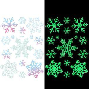 Christmas Luminous Tattoo Stickers Snowflake Elk Merry Christmas Decorations for Home Navidad 2020 Xmas Gift New Year 2021 Noel