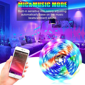 wholesale 5M LED Strip Lights RGB Strips Tape Light 150 LEDs SMD5050 Waterproof Bluetooth Controller + 24Key Remote Control
