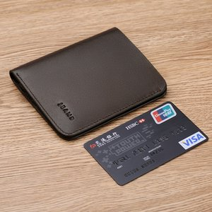 Short Wallets For Men Genuine Leather Wallet Men Coin Pocket Card Holder Purse Mini Small Wallet Business gift