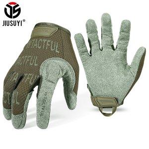 Jiusuyi guantes tácticos Guante de dedo completo Hombres Mittens Ejército Militar Paintball Airsoft Disparo Ciclismo Microfibra transpirable Nuevo LJ201103