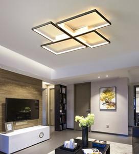 Новая Светодиодная потолочная лампа Nordic Minimalist Rectughtious Light Room PostModern Тепловая атмосфера Геометрическая гостиная лампа