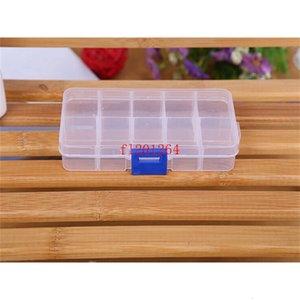 Joyería 200pcs / lote FedEx Borrar DHL Envío gratis Barañas al por mayor Almacenamiento de contenedor caja de plástico 10 compartimentos