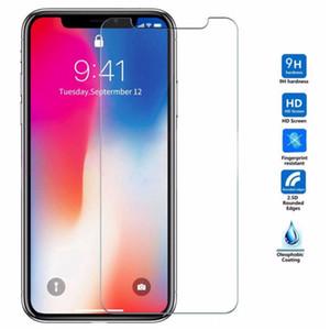 9h 2.5D Película protectora de pantalla de tela celular de vidrio templado de 2.5D para iPhone 12 Mini 11 Pro MAX X XS XR 8 7 PLUS