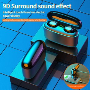 Wireless Bluetooth Earphones Ear Low Power Stereo Copper Ring Horn Wireless Headphones Bluetooth LED Digital Display Earphones for Phone G5S