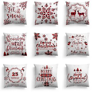 New Merry Christmas Pillowcase Polyester Pillow Covers Home Sofa Decorative Cushion Cases 45x45cm