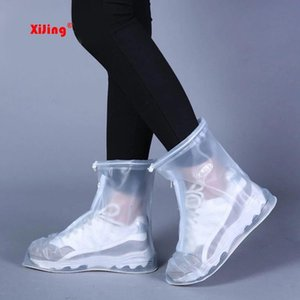 High Quality Rain Waterproof Boots Cover Heels Boots Men Women's Reusable Shoes raincoat Thicker Non-slip Waterproof shoe cover T200328