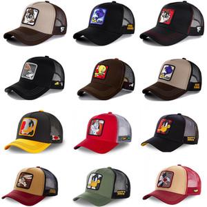 Été unisexe hip hop brodé animal hommes casqueball casquettes femmes respirantes maille snapback chapeaux chapeaux de camionneur homme