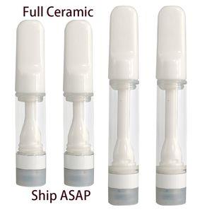 Vapes Cartridge Packaging Full Ceramic Cartridges Vape Pen 510 Thread Carts Healthy Pens E cigarette 0.5ml 1.0ml Press On Cartridges Instock