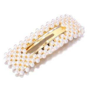 2019 New Fashion Pearl Hair Clip For Women Elegant Korean Design Snap Barrette Stick Hairpin Hair Styling Accessories Hair Pins Swy jllzIU