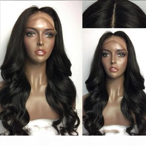 2017 Hot Style 100% Glueless Synthetic Lace Front Wig With Bangs Hair Wig Heat Resistant Cheap Female Wig Perucas Wigs for Black Women