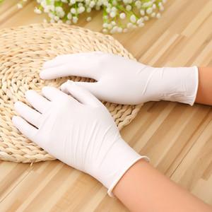 100 قطعة / الوحدة قفازات المتاح غسل الصحون اللاتكس / المطبخ حديقة قفازات عالمية لليسار واليمين اليد 6 ألوان DHF3607