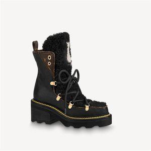 2020 Nuovi stivali della caviglia Beaubourg Donne Fashion Martin Boots Designer Lana Stivali in pelle invernale di lana Top Quality with Box Dimensione EUR 35-42