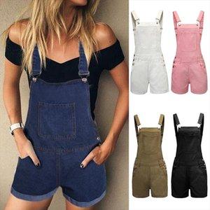 Jeans jumpsuit women loose summer womens denim bib pants casual plus size short pants woman jean strap pullovers jumpsuit