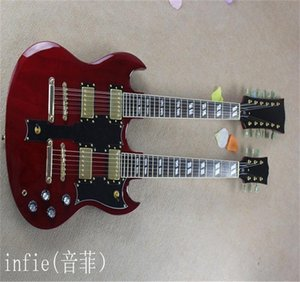 2021 Hot Selling 6 strings and 12 strings double neck g shop custom SG electric guitar in red color free shipping