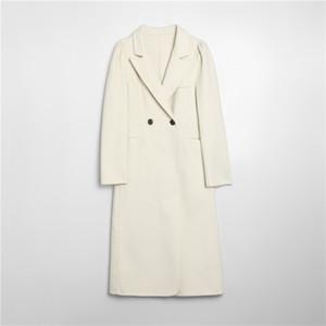 Long Wool Coat Blends Women Winter Warm Turn-down Collar Loose Woolen Coats Jacket Casual Ladies Overcoat