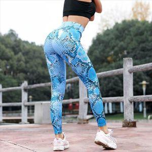 Women Sport Fitness Serpentine High Waist Leggings Serpentine Women Pants Mesh Leather Leggins Desporto Roupa Feminina 30
