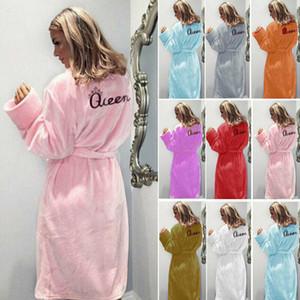 Американские женские женские халаты Флис теплый Wrap Queen роскошный мягкий халат плюс размер