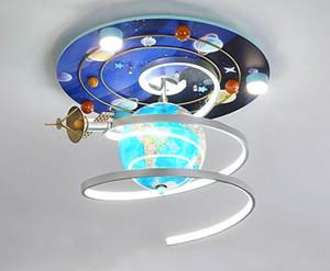 Cartoon Creative Space Star Plafoniera Lampada da soffitto da camera da letto Camera da letto per bambini Lampada per bambini Astronomico Globo Astronomico Lampada da soffitto